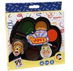 JOVI Obličejové barvy na karneval Samba  6x3 g (35 mm) + štětec