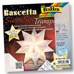 Folia Origami Hvězda Bascetta - bílá, 32 archů 15x15 cm