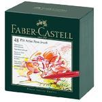 Faber-Castell PITT Artist Pen Brush  Atelier Box - 48ks
