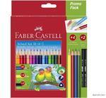 Faber-Castell  Pastelky trojhranné, školní sada /18 + 4 + 2ks/