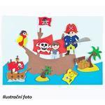 Pěnové samolepky - Piráti, 96 ks