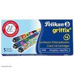 Pelikan Inkoustové bombičky Griffix 4 - královská modrá, 5 ks