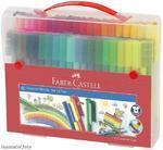 Faber-Castell Popisovače Connector plastová taštička - 80 ks