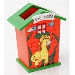 Stojánek dětský  Žirafa s oranžovým domem