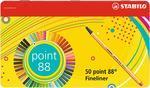 Stabilo Point 8850-6 - Sada 50 ks v plechové krabičce 0,4 mm