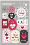 Visačky 12.8 x 20 cm - Love 2