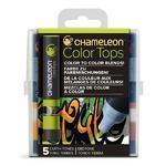 Sada stínovacích fixů Chameleon Color Tops - Zemité tóny, 5ks
