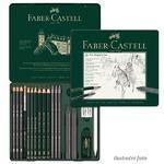 Faber-Castell Sada PITT Graphite Medium - 19 ks v plechu