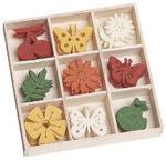 Filcové ozdoby 22 mm v boxu 45 ks  Motýli a třešně