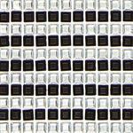 Samolepící kamínky černé a stříbrné, čtverečky 5 mm - 480 ks