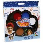 JOVI Obličejové barvy na karneval Funky  6x3 g (35 mm) + štětec
