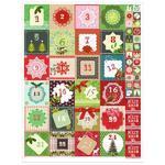 Vánoční etikety - adventní kalendář / 1 arch