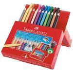 Faber-Castell Pastelky Jumbo GRIP 12 ks + Grip Colour popisovače 10 ks i pro L