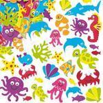 Pěnové samolepky - Mořský svět, 108 ks