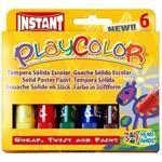 Playcolor Tuhé temperové barvy - 6 ks