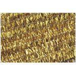 Žinilkový drát průměr 8mm, délka 50cm, 10ks - zlatý