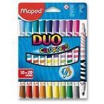 MAPED Fixy Color´Peps Duo 10 ks=20 barev v papír. krabičce