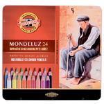 Mondeluz Akvarelové pastelky - 24 ks v plechu