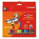 """Stabilo Trio Silné pastelky - 18 ks s ořezávátkem i pro """"L"""""""