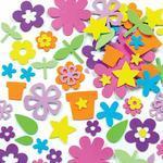 Pěnové samolepky - Květinová zahrada, 230 ks