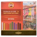 Křídy prašné umělecké Toison D´Or  hranaté - 24 ks