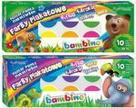 Bambino Sada temperových barev v kelímcích 12x20 ml, 4 fluo + glitter + metalické barvy