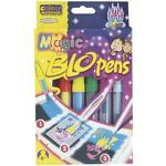 Foukací fixy BLOpens Magic na papír  Sada 4+2 ks + šablony