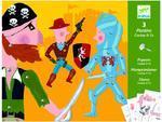 """Pohyblivé figurky - """"Kovboj, pirát a rytíř"""""""