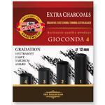 Gioconda Souprava 4 umělých gradačních extra uhlů