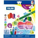 Pastelky MILAN Maxi trojhranné - 12 ks