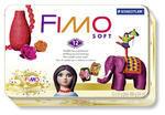 Fimo Soft Set  RETRO 12 ks v kovovém boxu