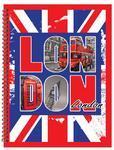 Spirálový blok A4 - 50 listů, čtvereček  Londýn