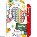 Stabilo EASYcolors 331/12 Pastelky pro leváky  Sada  12 ks + ořezávátko