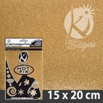 Nažehlovací fólie Hot-fix 15x20cm glitrová - zlatá