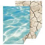 Fotokarton 50x70 cm, 300 g/m2 - Voda/půda