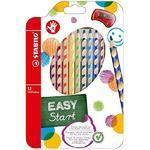 Stabilo EASYcolors 332/12 Pastelky pro praváky - sada 12 ks + ořezávátko