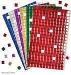 Samolepící pěnové čtverečky - mozaika metalická
