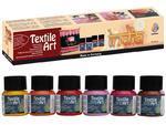 Textile Art barvy na tmavý textil - India, 6x20 ml