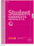 Student blok A4 CC, linka 80 listů spirála - růžový