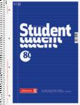 Student blok A4, linka 80 listů spirála - modrý