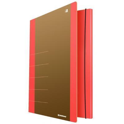 DONAU spisové desky s gumou A4 - neon oranžové