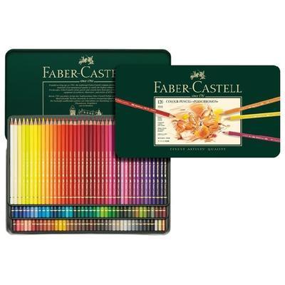 Faber-Castell Pastelky Polychromos - 120 ks v kovové etui - 1
