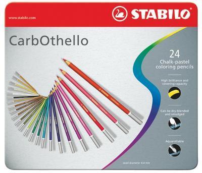 Stabilo CarbOthello Křídové pastelky v kovovém boxu - 24ks - 1