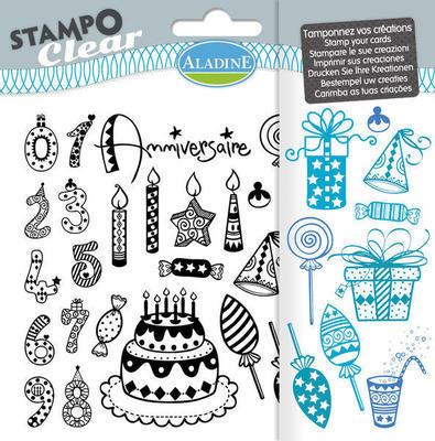 StampoClear CHILD´S BIRTHDAY, gelová razítka
