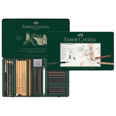 Faber-Castell Sada PITT Monochrome - 33 ks v kovové etui - 1