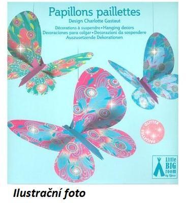 Závěsná dekorace - Motýlci - 1