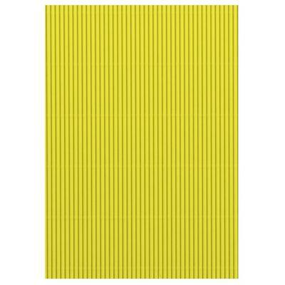 Karton vlnitý 50x70 cm 300g/m2 - světle žlutý