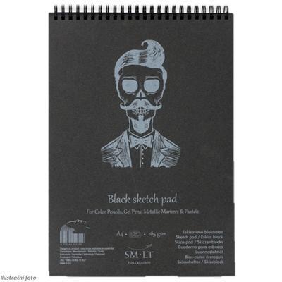 SMLT Blok Sketch Black A5, 165 g/m2, 20 listů