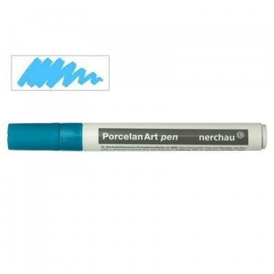Nerchau Porcelan Art Pen - fix na porcelán, světle modrý