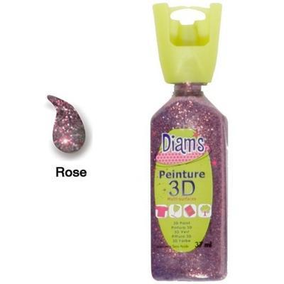 Diam's 3D akrylová barva 37 ml - třpytivá růžová - 1